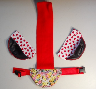 Candy Hearts Valentine's Day Goose Diapers 2