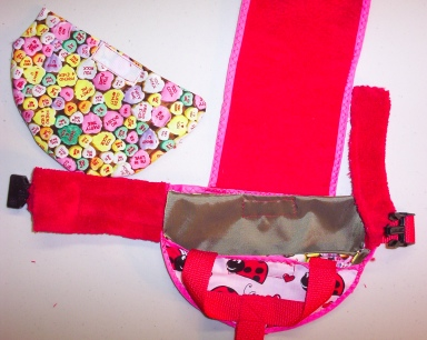 Love Bug Valentine's Day Goose Diaper Holder close Up