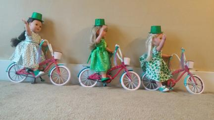 "18"" Dolls St. Pat's Bicycles 2019-02-27"
