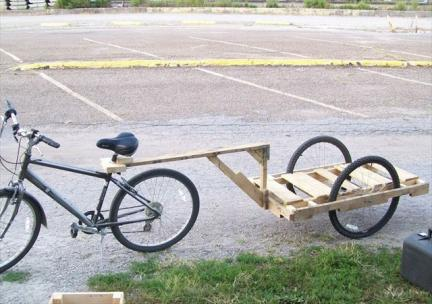 Pallet Bicycle Trailer